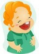Laughing lady cartoon