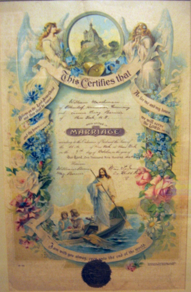 This image has an empty alt attribute; its file name is 1916-10-7-maschman-berner-marriage-certificate.jpg